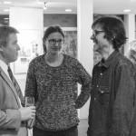 Vernissage_Ingelheim_im Gespraech mit dem Vorstand des 1.FFC , Herrn Domann