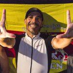 Finish: Stefan Chares beim Deca-Ultratriathlon in Buchs /Schweiz