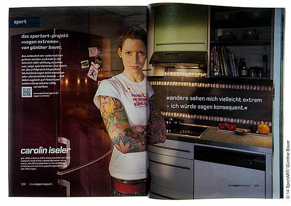 """Ausstellungsprojekt """"Vegan eXtreme - SportlerInnen und ihre Ernährung"""""""